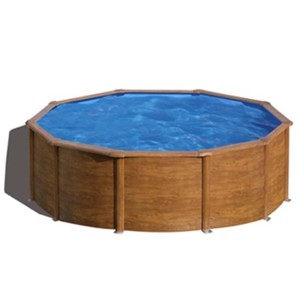 Acheter gre piscine pacific ronde marron 350 cm kit350wb for Gre piscine