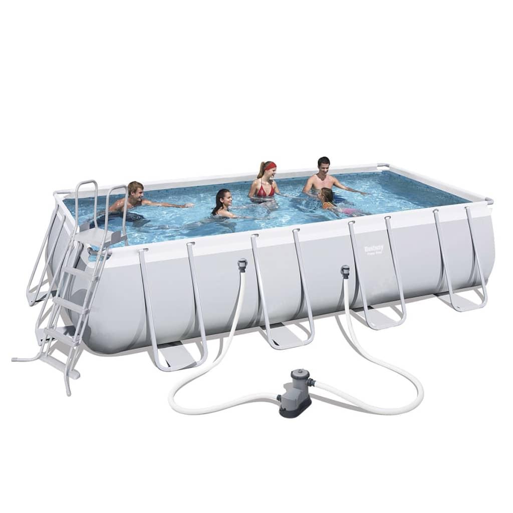 Afbeelding van Bestway Zwembad Mistral rechthoekig grijs 549x274 cm 56465