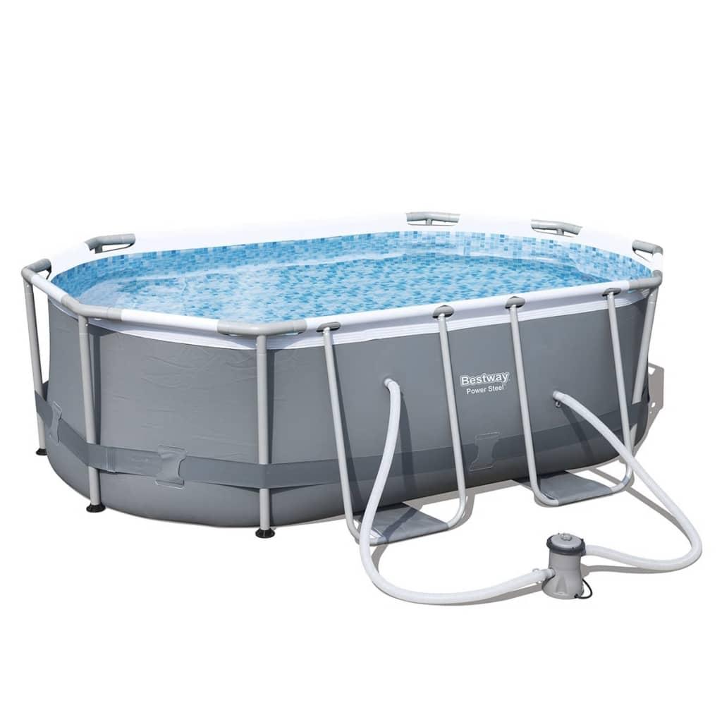 Afbeelding van Bestway zwembad Levant ovaal en grijs 300x200x84 cm 56617