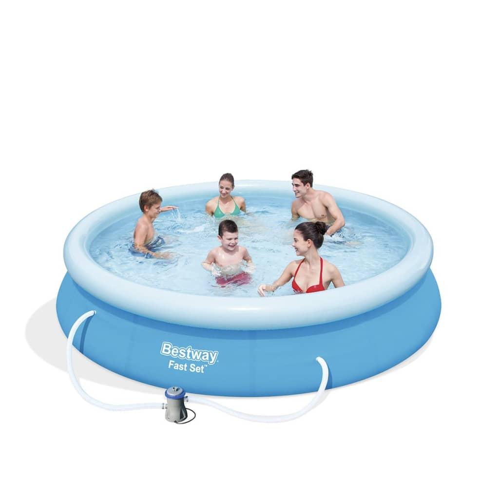 Acheter bestway piscine marin fast ronde 366 cm pas cher for Piscine bestway