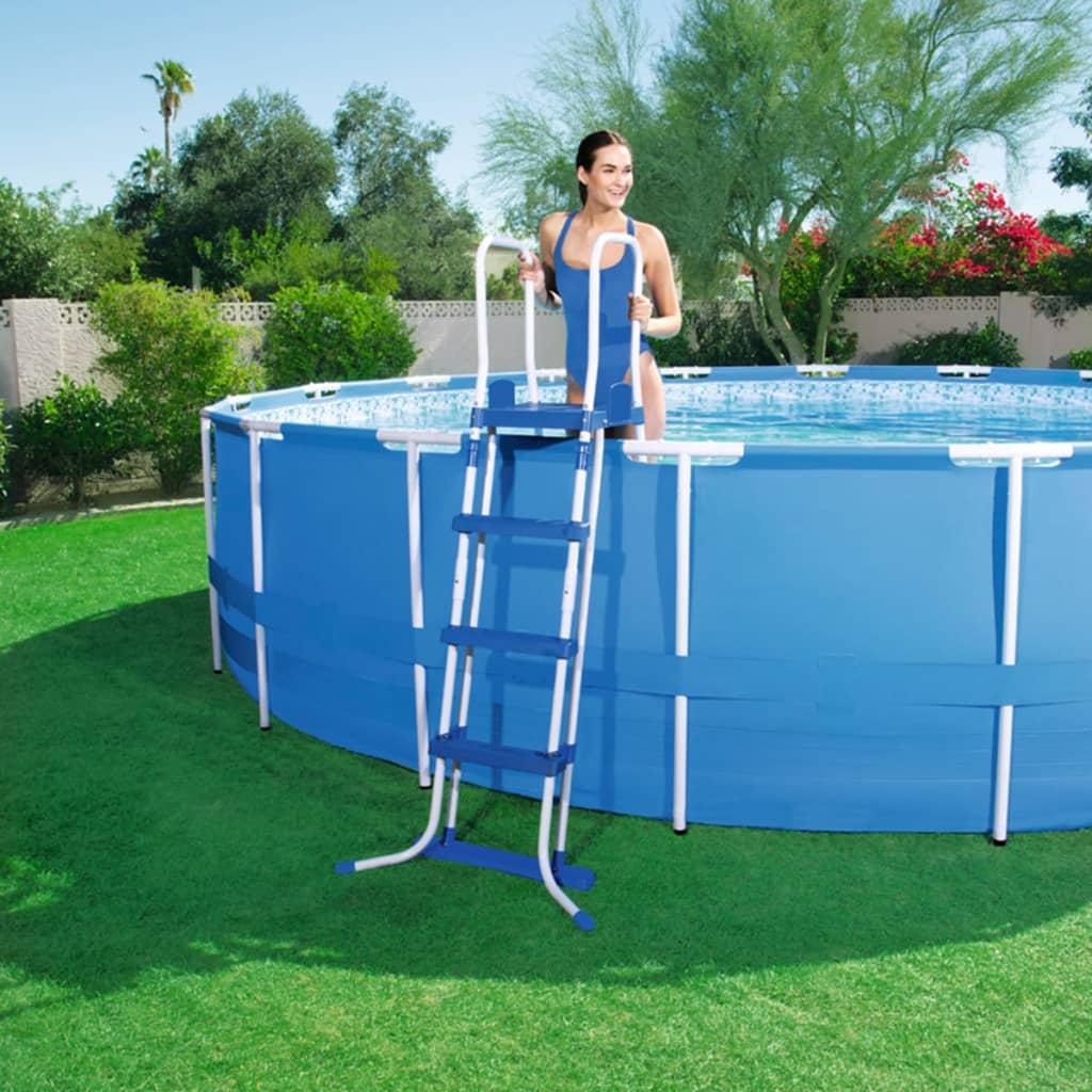Acheter bestway chelle de piscine 3 marches 122 cm pas for Bestway piscine