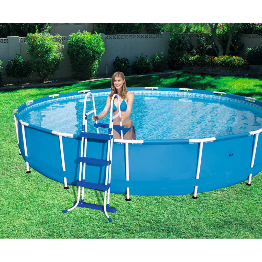 Acheter bestway chelle de piscine 3 marches 107 cm pas for Bestway piscine