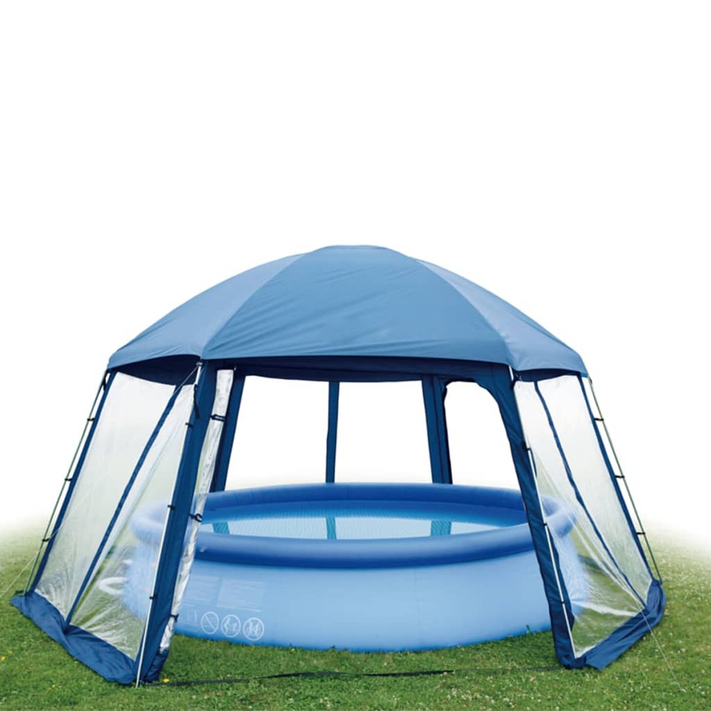 Acheter gre tente de piscine 400 cm bleu ph54 pas cher for Tente pour piscine
