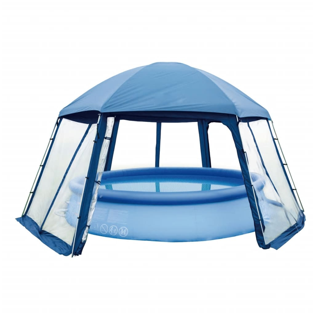Acheter gre tente de piscine 400 cm bleu ph54 pas cher for Accessoires piscine 54