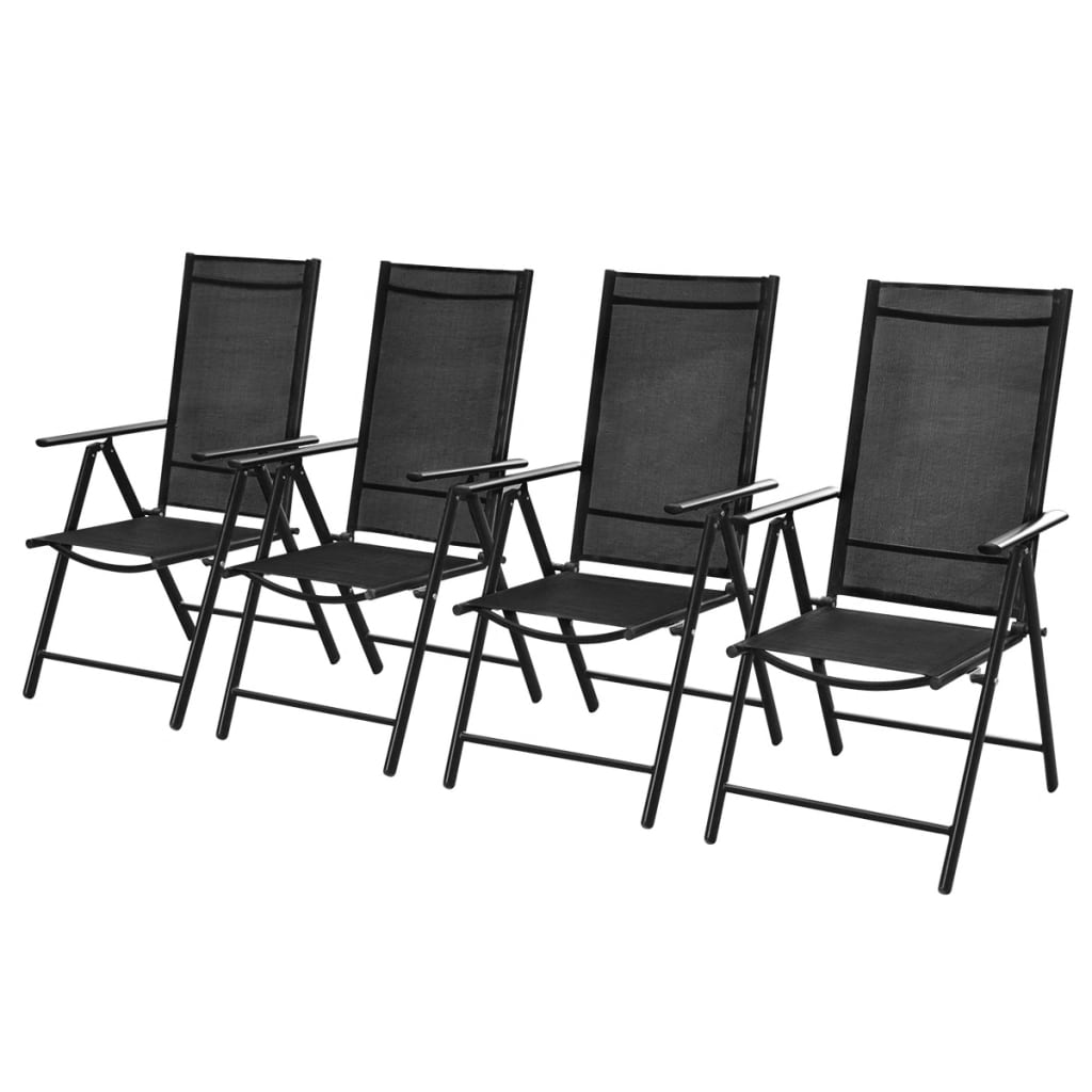 acheter lot de 4 chaises pliantes en aluminium pas cher. Black Bedroom Furniture Sets. Home Design Ideas