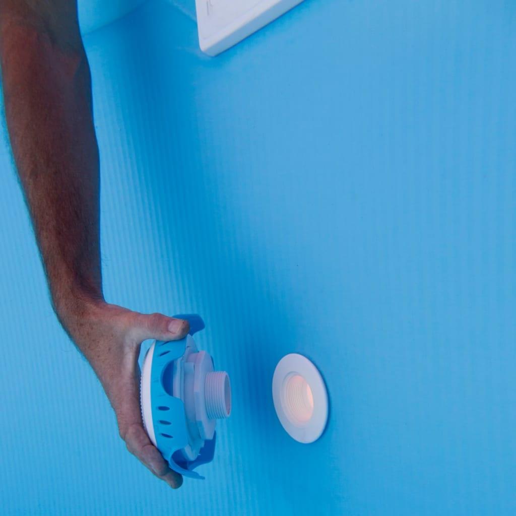 acheter gre lampe led pour piscine hors sol blanc et bleu