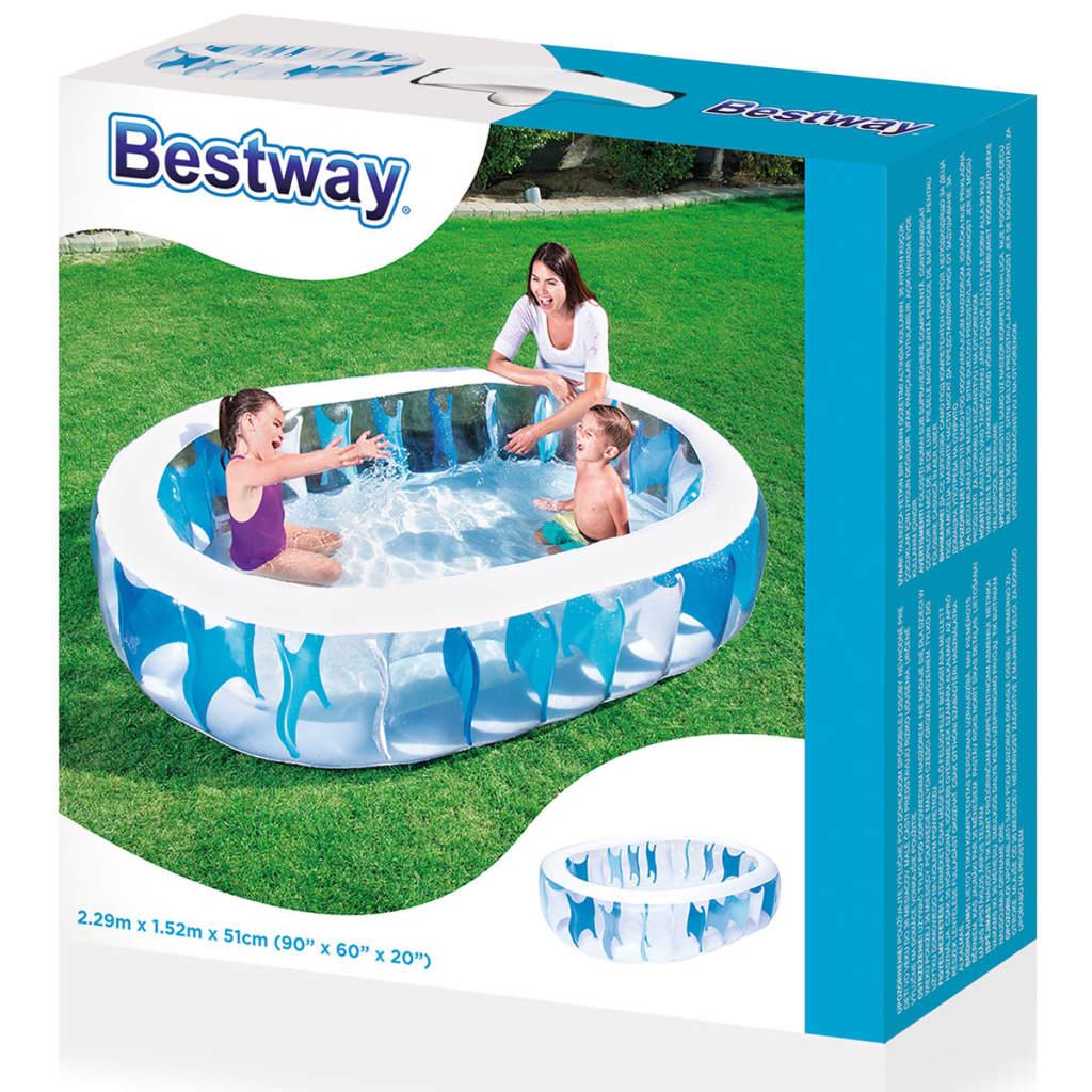 Acheter bestway piscine ovale 229 x 152 x 51 cm pas cher for Best way piscine
