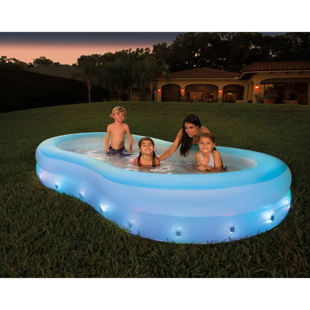 Acheter bestway piscine led en forme de vague 280 x 157 x for Bestway piscine
