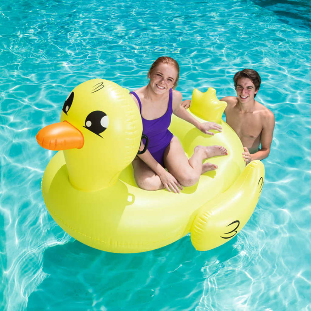 Bestway Pool Ride-on Jumbo Duck Docoda Yellow Inflatable Floating Lounge 41106✓