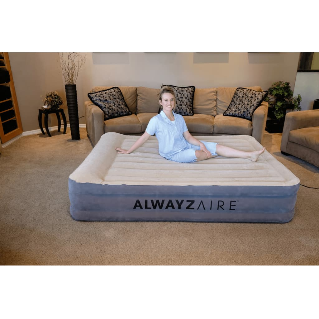 acheter bestway matelas gonflable alwayzaire 2 personnes 203 x 152 x 43 cm cr me pas cher. Black Bedroom Furniture Sets. Home Design Ideas