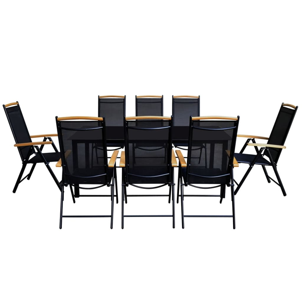 la boutique en ligne ensemble de jardin 1 table et 8 chaises de jardin en aluminium. Black Bedroom Furniture Sets. Home Design Ideas