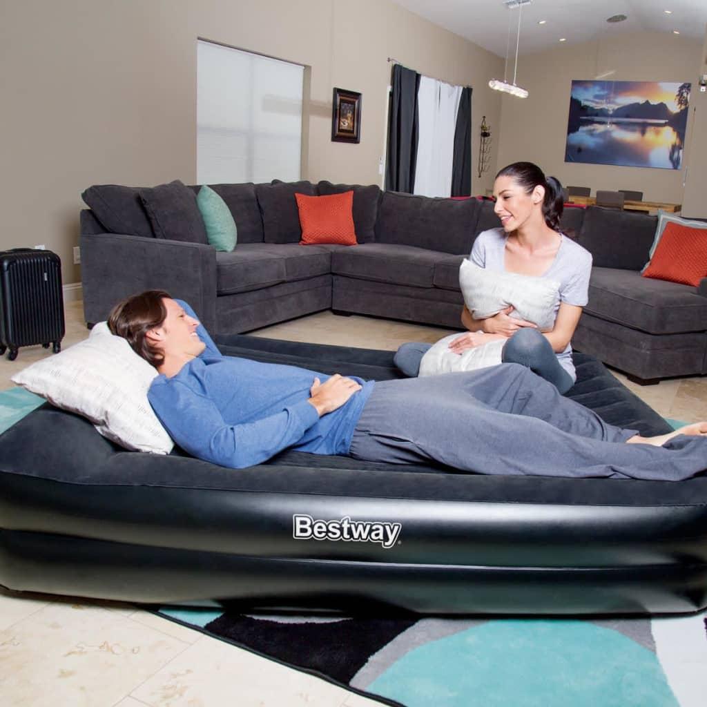 acheter bestway matelas gonflable premium 2 personnes 203x152x56 cm anthracite pas cher. Black Bedroom Furniture Sets. Home Design Ideas