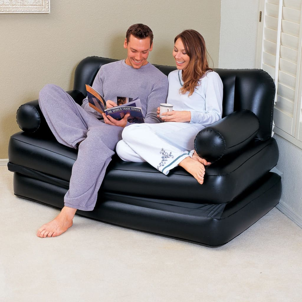 Inflatable Sofa Review: Bestway 5-in-1 Inflatable Sofa Black 75054