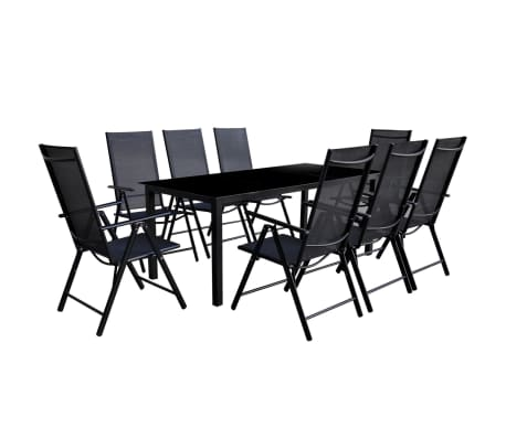 der gartenm bel aus aluminium 9 teile online shop. Black Bedroom Furniture Sets. Home Design Ideas