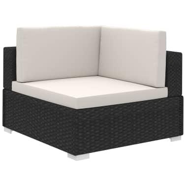 Gartenmöbel Poly Rattan Set Lounge Schwarz 15-teilig[4/7]