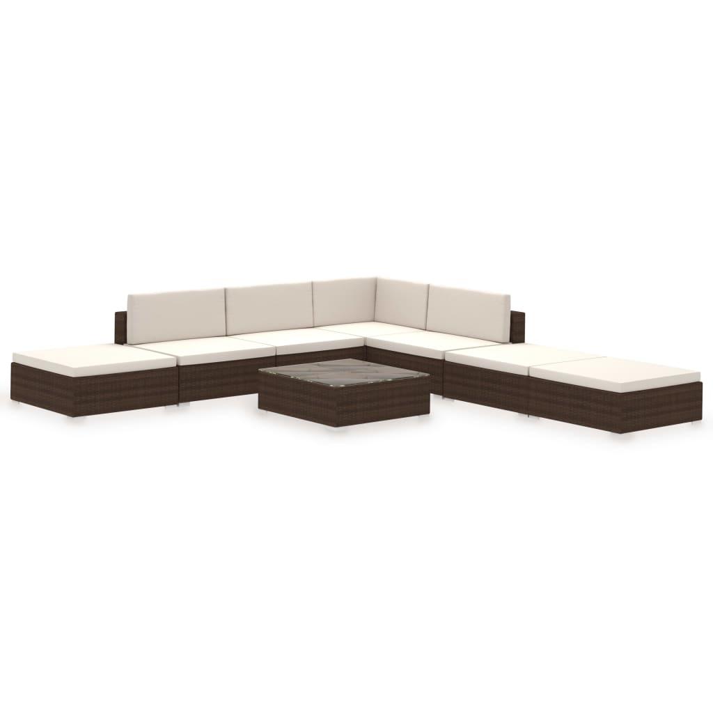 Acheter vidaxl meuble de jardin r sine tress e 20 pcs for Meuble resine tressee exterieur