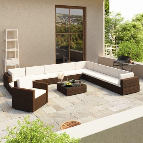 35tlg. Poly Rattan Gartenmöbel Lounge Sitzgruppe Sitzgarnitur ...