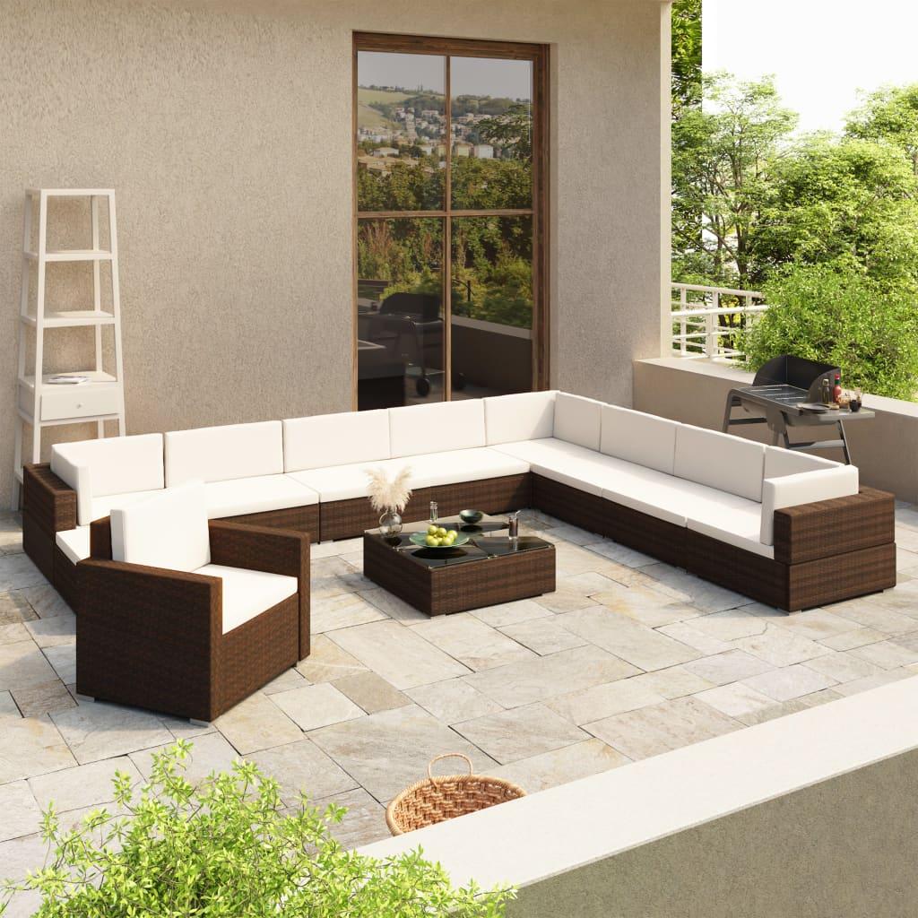 Gartenmöbel Sitzgruppe Rattan Lounge ~ Garten & Terrasse > Möbel > Garnituren & Sitzgruppen