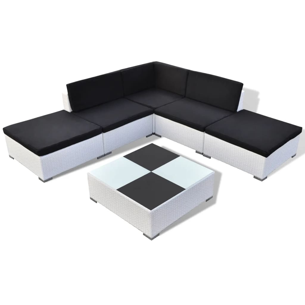 la boutique en ligne salon de jardin 15 pi ces en rotin blanc. Black Bedroom Furniture Sets. Home Design Ideas