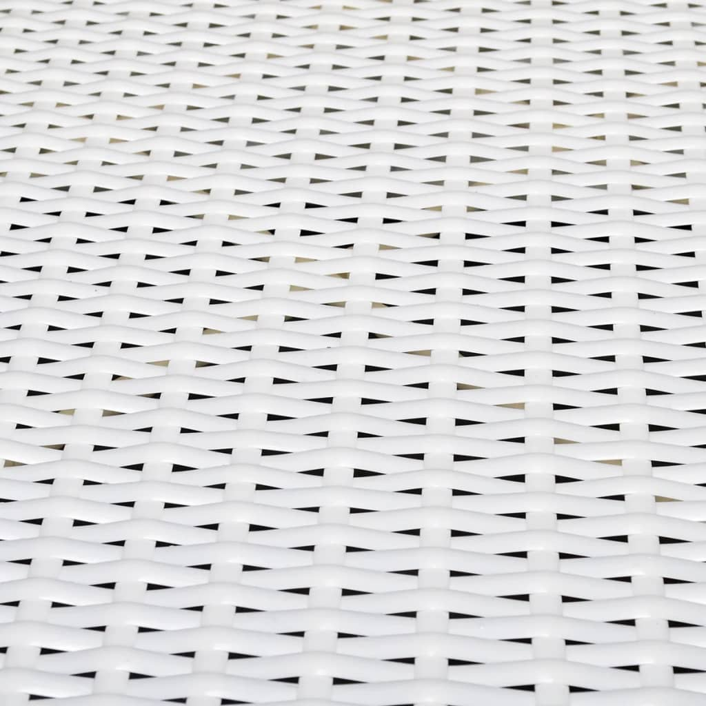 acheter vidaxl meuble de jardin r sine tress e 24 pcs blanc pas cher. Black Bedroom Furniture Sets. Home Design Ideas