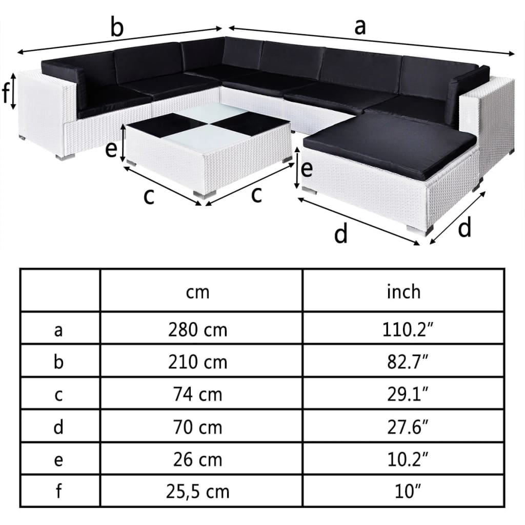 der gartenm bel poly rattan set lounge wei 24 teilig online shop. Black Bedroom Furniture Sets. Home Design Ideas