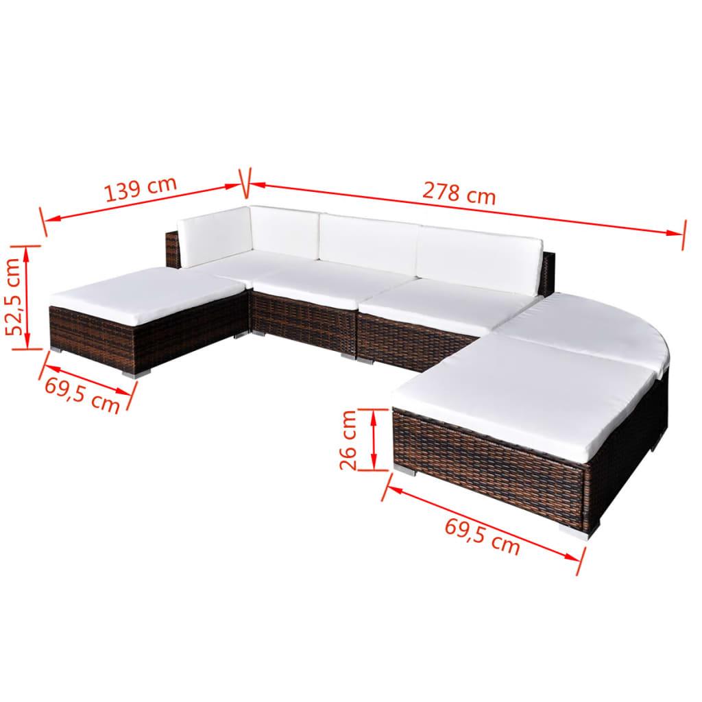 Acheter vidaxl meuble de jardin r sine tress e 16 pcs for Meuble jardin resine