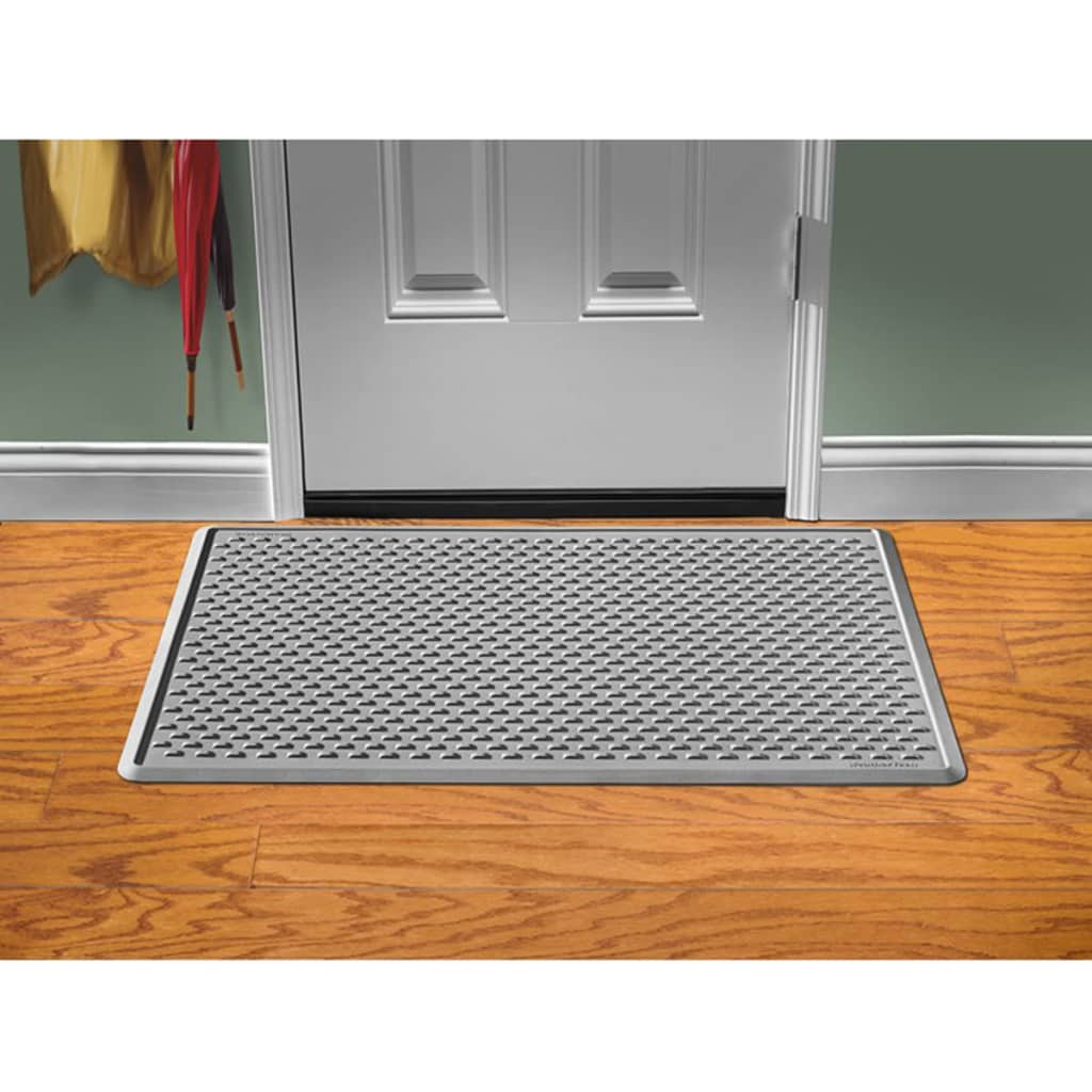 Weathertech indoor door mat 122x76 cm grey idm2g vidaxl for Indoor front door mats