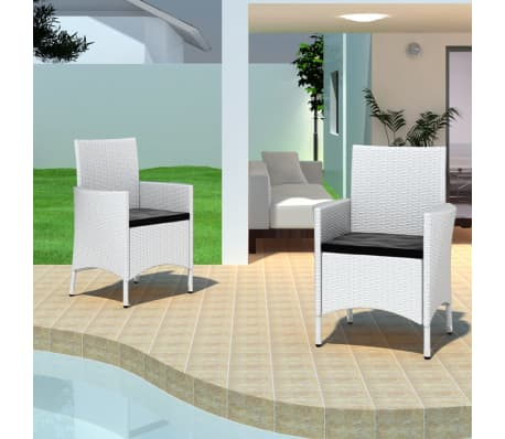der poly rattan gartenm bel set essgruppe 2 st hle wei online shop. Black Bedroom Furniture Sets. Home Design Ideas