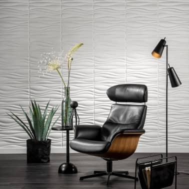 wallart panneaux muraux 3d vagues 12 pcs ga wa04. Black Bedroom Furniture Sets. Home Design Ideas