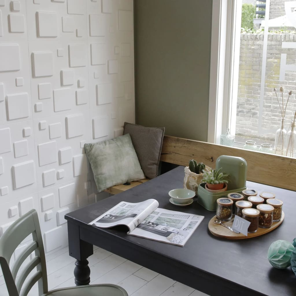 acheter wallart panneaux muraux carr s 12 pcs ga wa09 pas cher. Black Bedroom Furniture Sets. Home Design Ideas