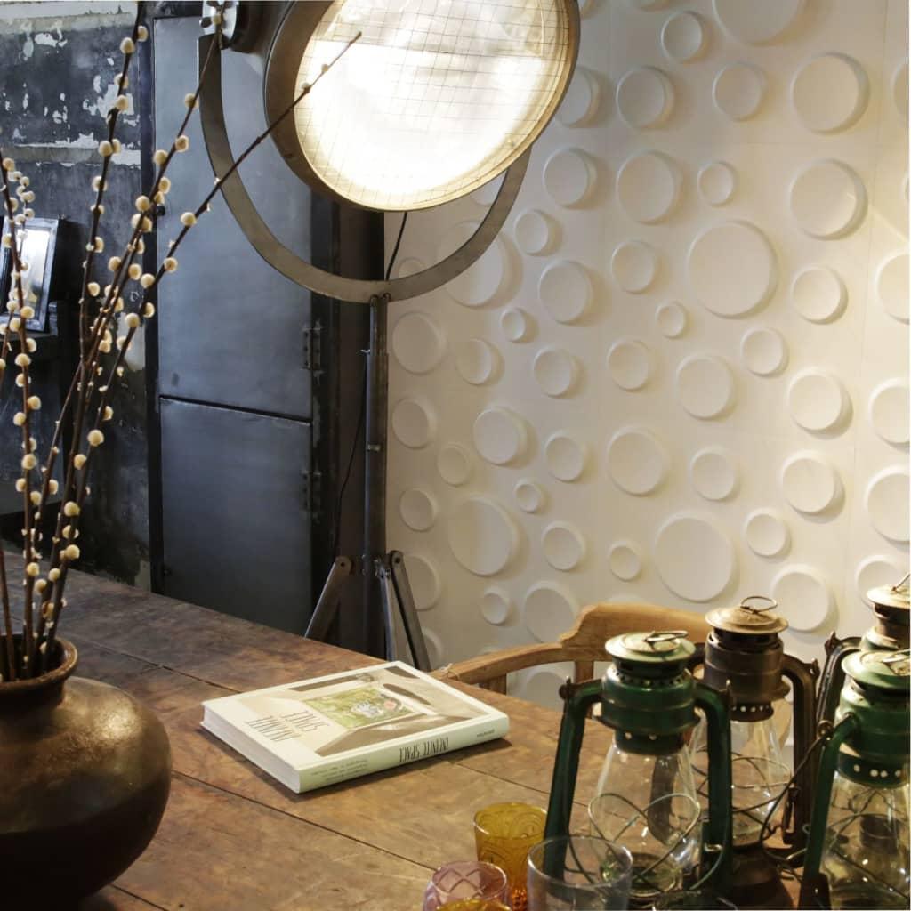 acheter wallart panneaux muraux 3d crat res 12 pcs ga wa11 pas cher. Black Bedroom Furniture Sets. Home Design Ideas