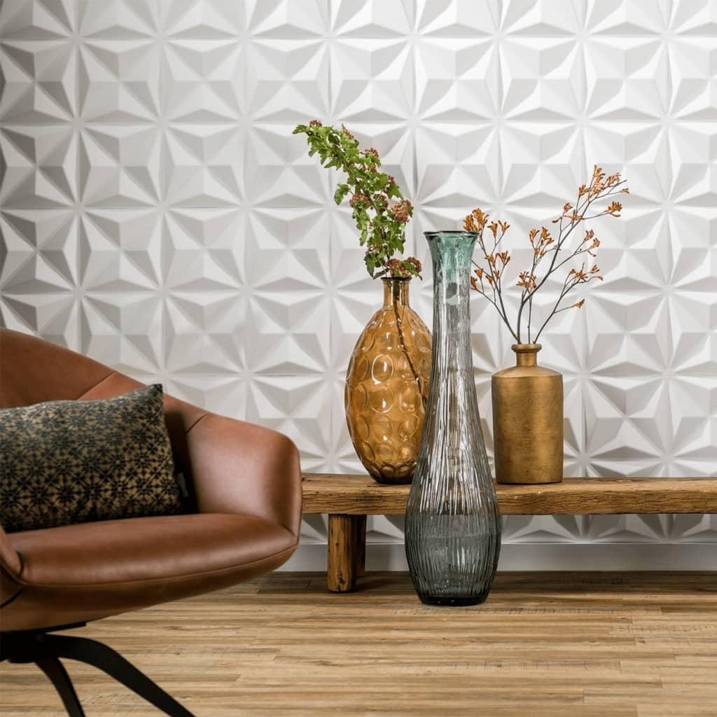 acheter wallart panneaux muraux 3d cullinans 12 pcs ga wa17 pas cher. Black Bedroom Furniture Sets. Home Design Ideas