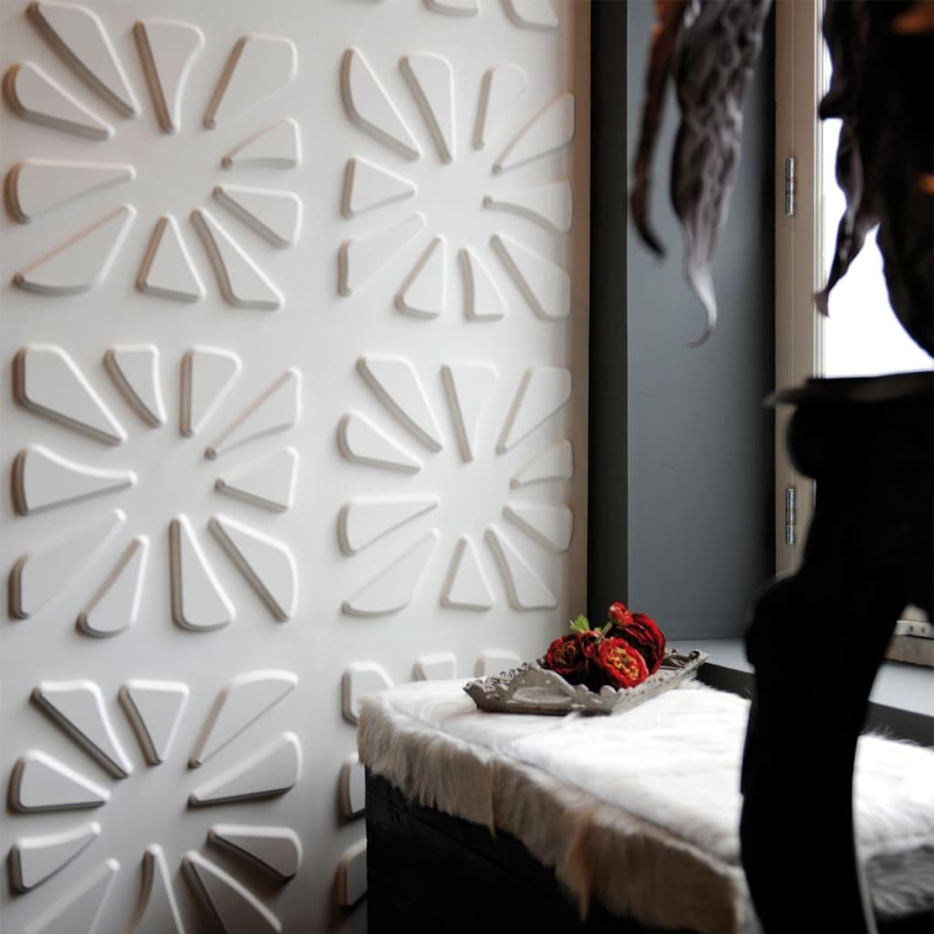 acheter wallart panneaux muraux 3d caryotas 12 pcs ga wa18 pas cher. Black Bedroom Furniture Sets. Home Design Ideas