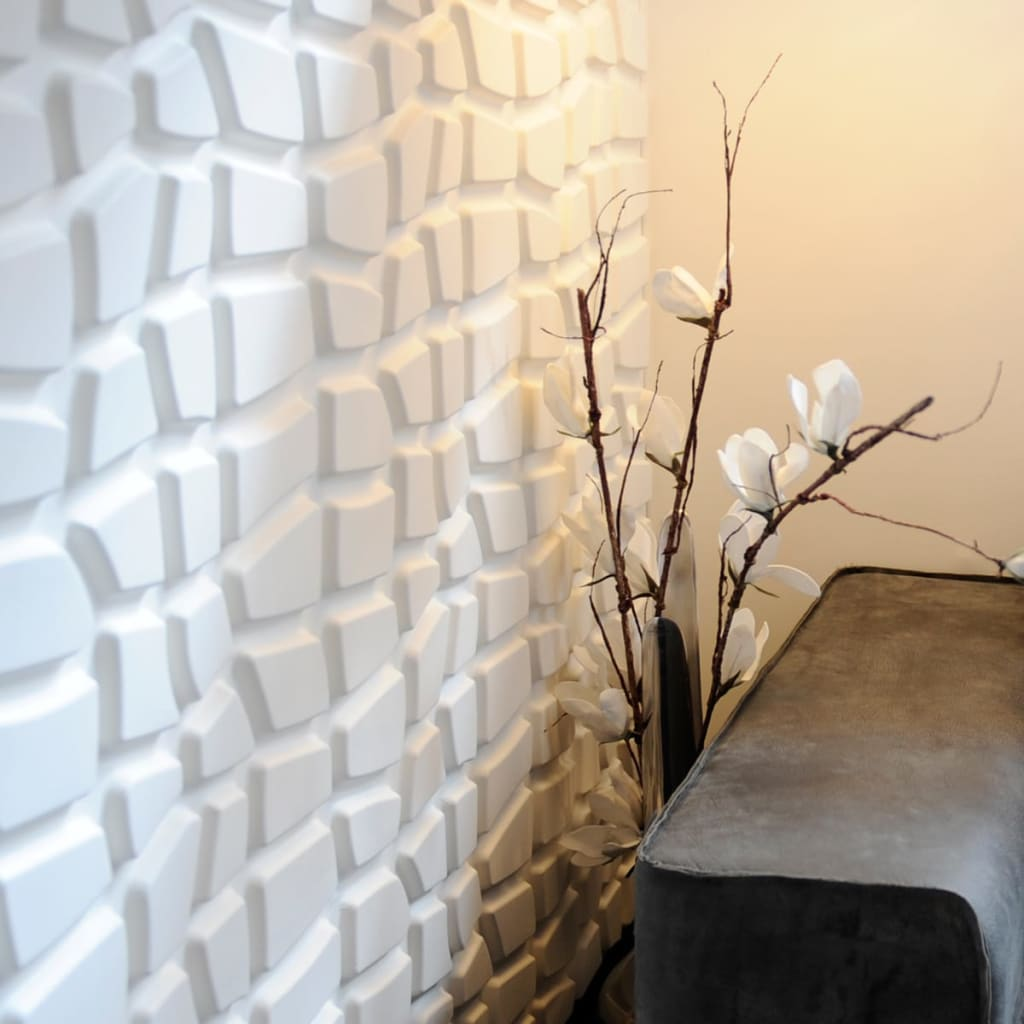 acheter wallart panneaux muraux 3d dundees 12 pcs ga wa20 pas cher. Black Bedroom Furniture Sets. Home Design Ideas