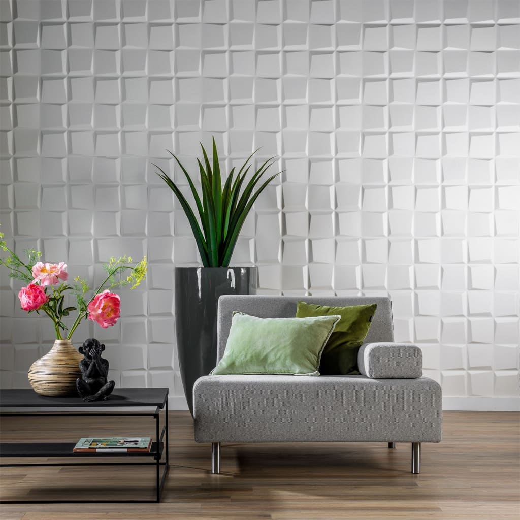 acheter wallart panneaux muraux 3d oberon 12 pcs ga wa21 pas cher. Black Bedroom Furniture Sets. Home Design Ideas