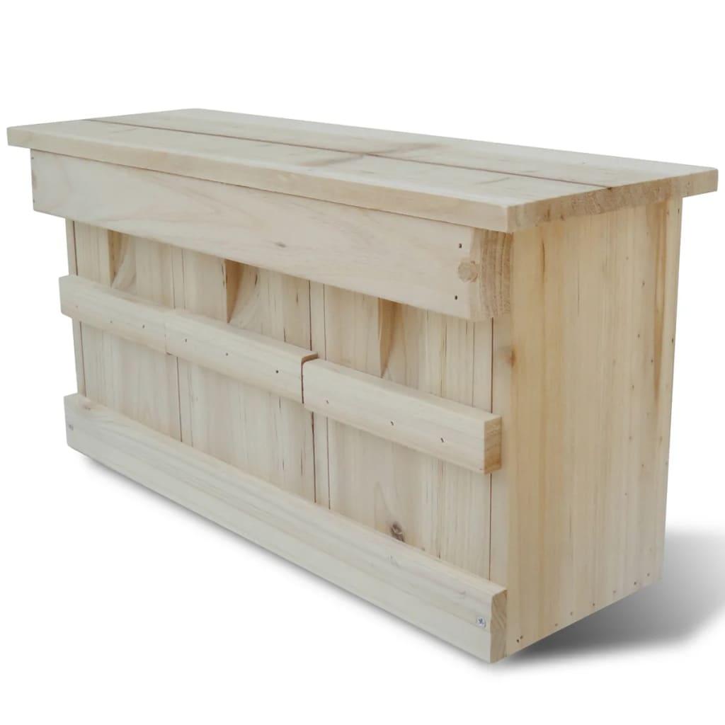 vidaXL Madárház fészekrakó doboz 44 x 15,5 21,5 cm