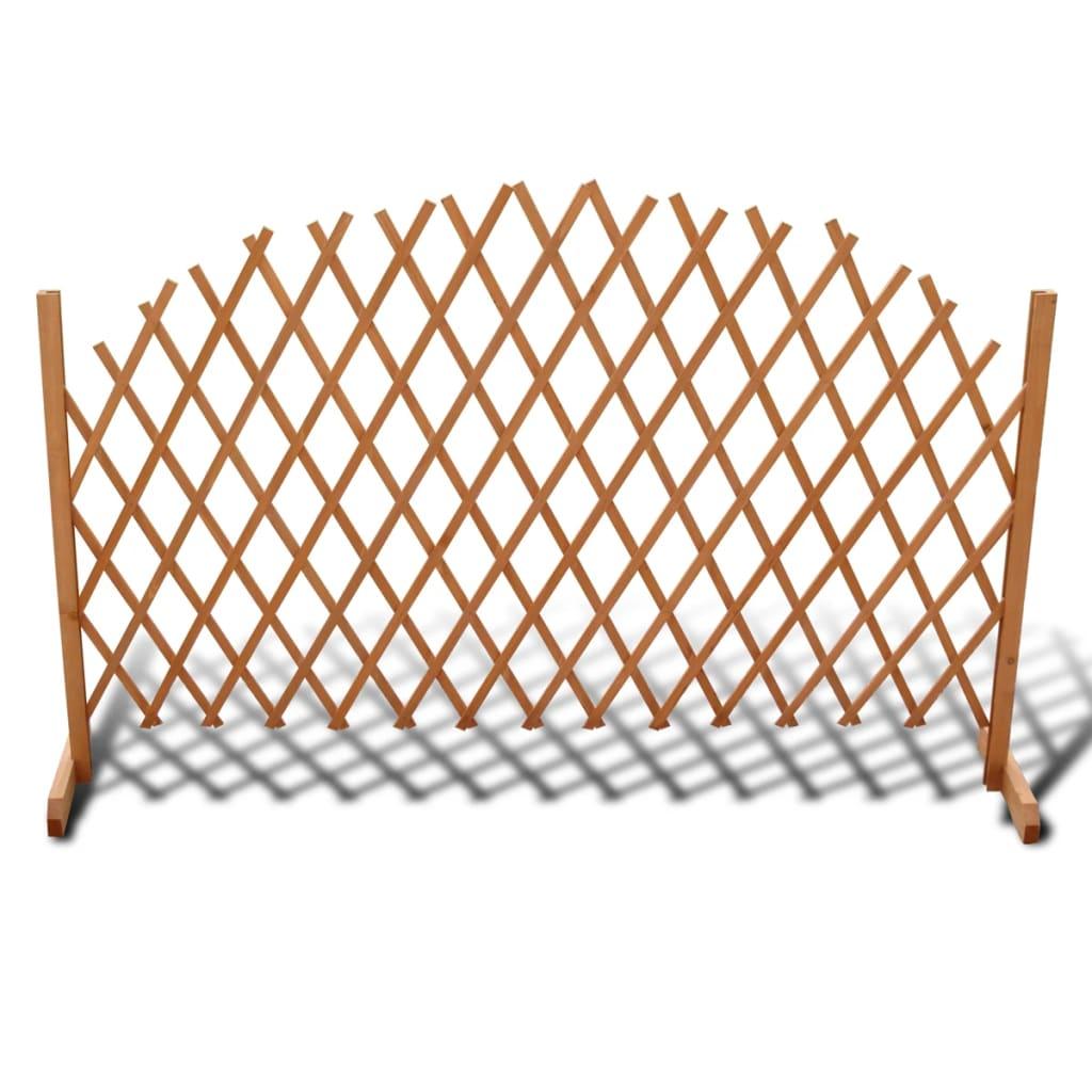 vidaXL Extendable Wood Trellis Fence 180 x 100 cm