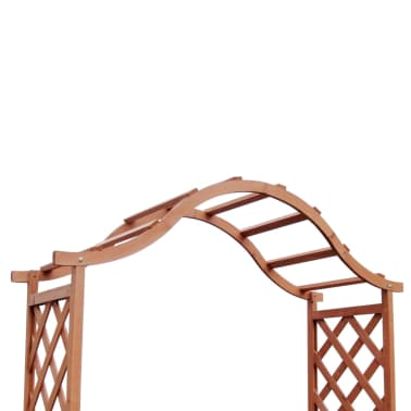 Trellis Rose Arch with Planters 5