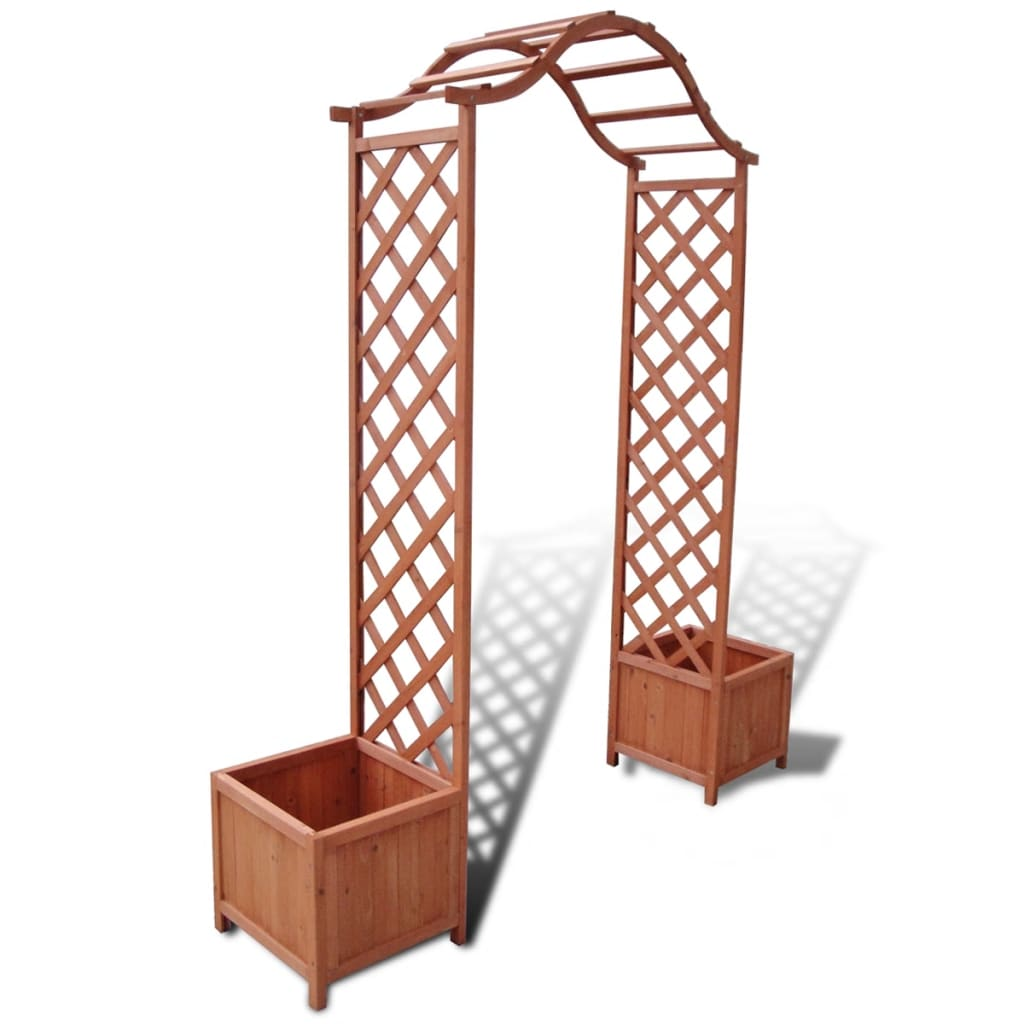 Trellis rose arch with planters 5 39 11 x 1 39 4 x 6 39 9 for Pergolas para jardin