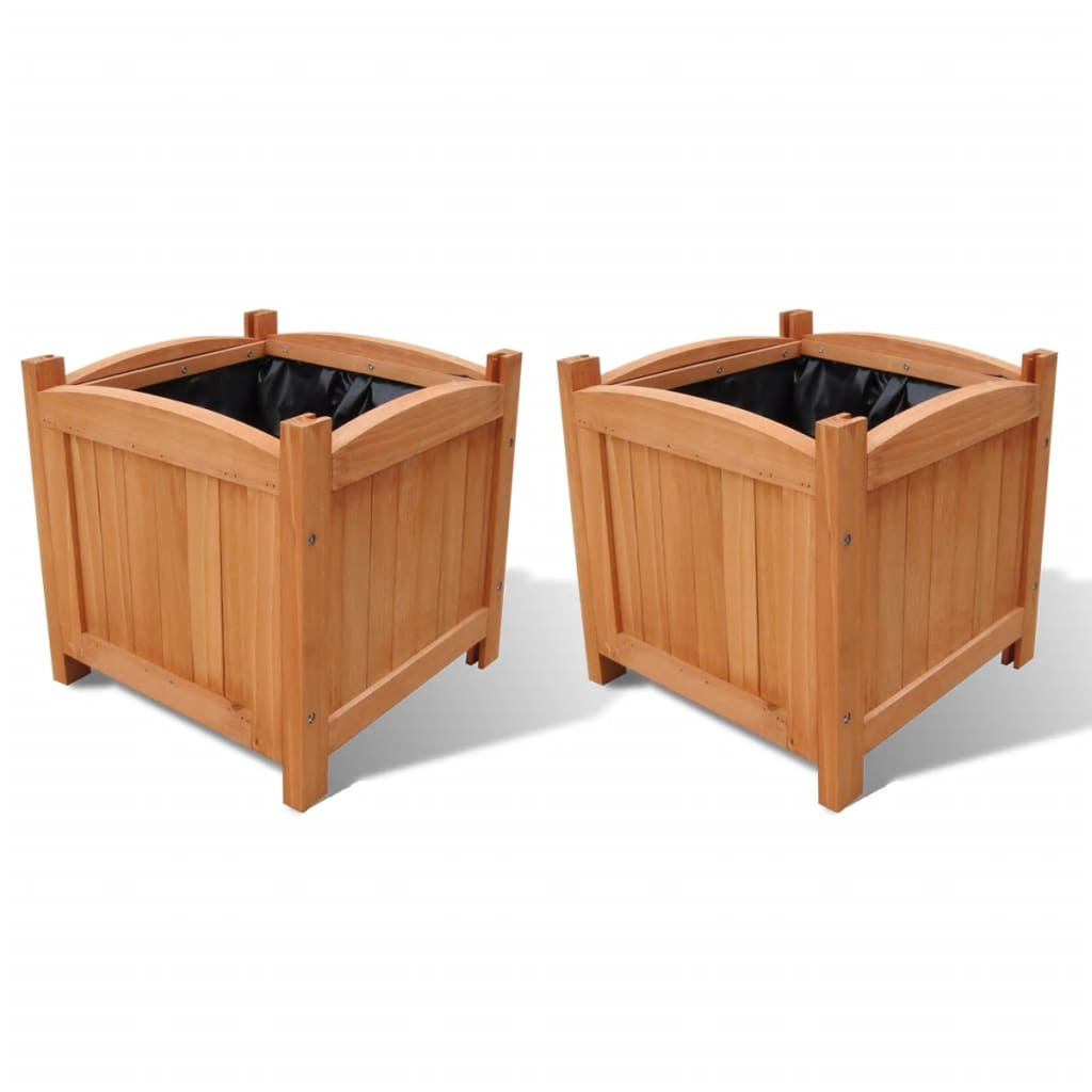 der pflanzk bel aus holz 30 x 30 x 30 cm 2er set online shop. Black Bedroom Furniture Sets. Home Design Ideas