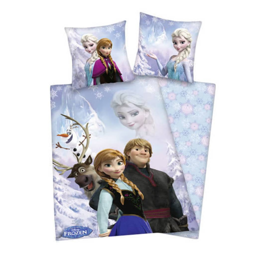 acheter disney set de housse de couette groupe la reine des neiges 200x140 cm pas cher. Black Bedroom Furniture Sets. Home Design Ideas