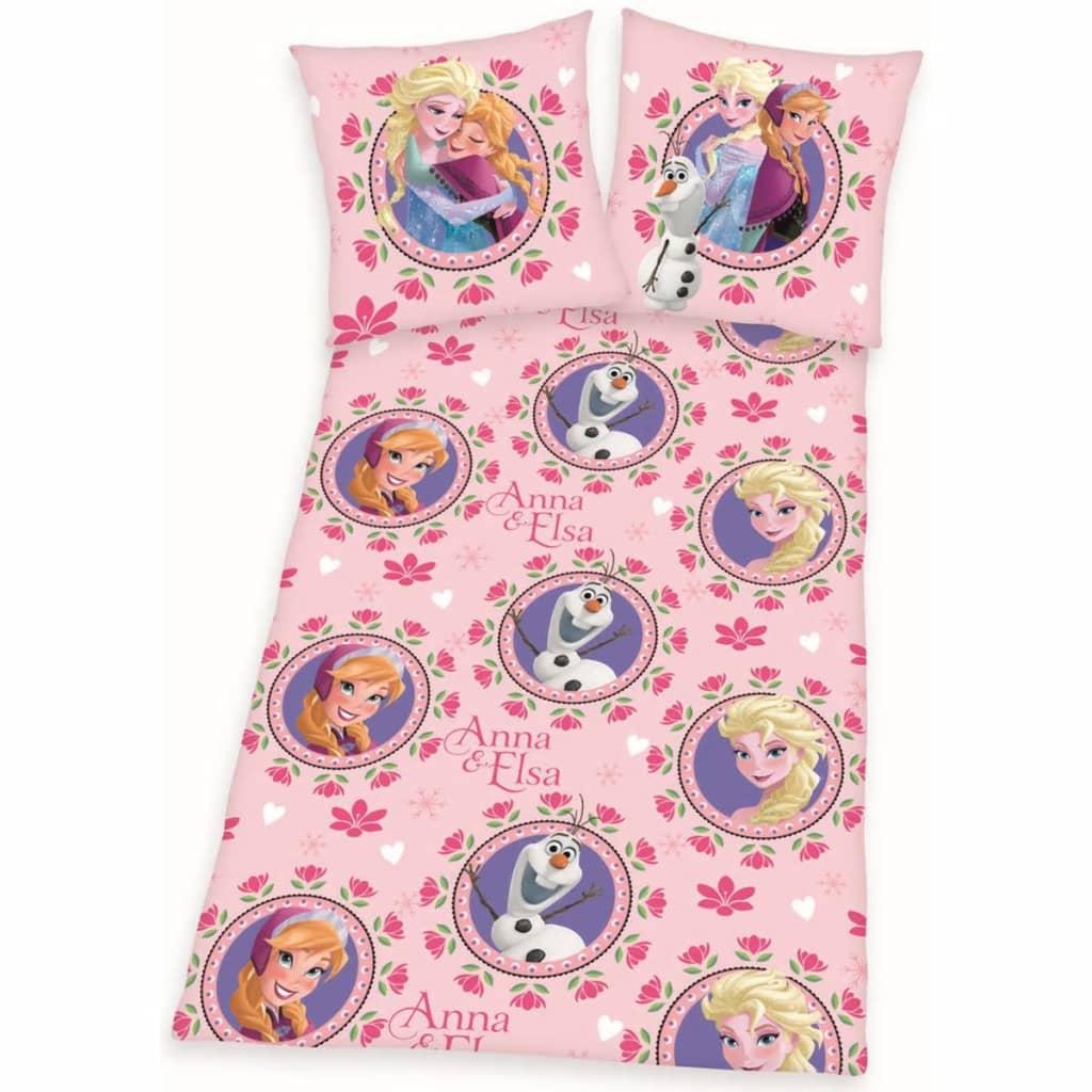 Afbeelding van Disney Kinderdekbedovertrek Frozen bloemen 200x140 cm DEKB234117