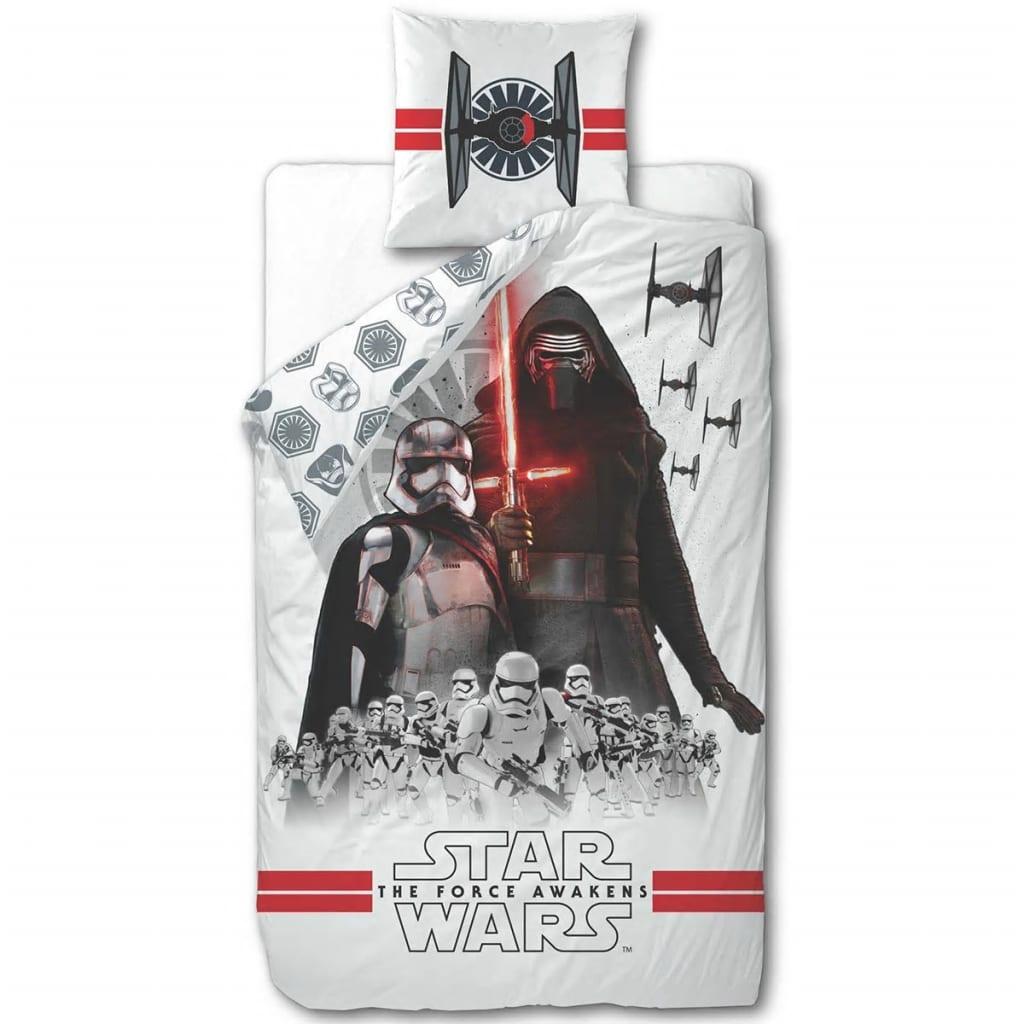 Afbeelding van Disney Kinderdekbedovertrek Star Wars wit 200x140 cm DEKB930119