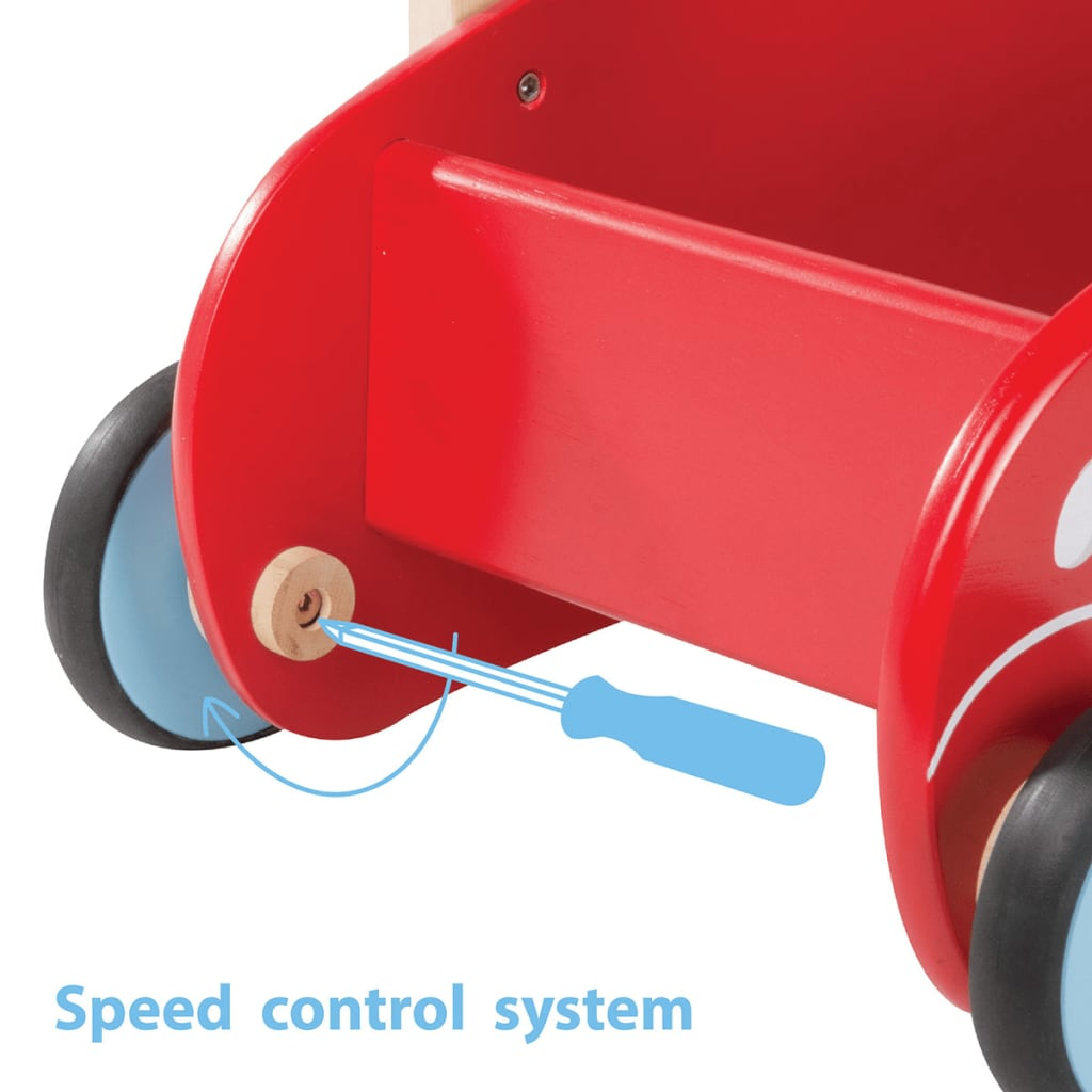 wonderworld lauflernwagen holz rot hout192405 g nstig kaufen. Black Bedroom Furniture Sets. Home Design Ideas