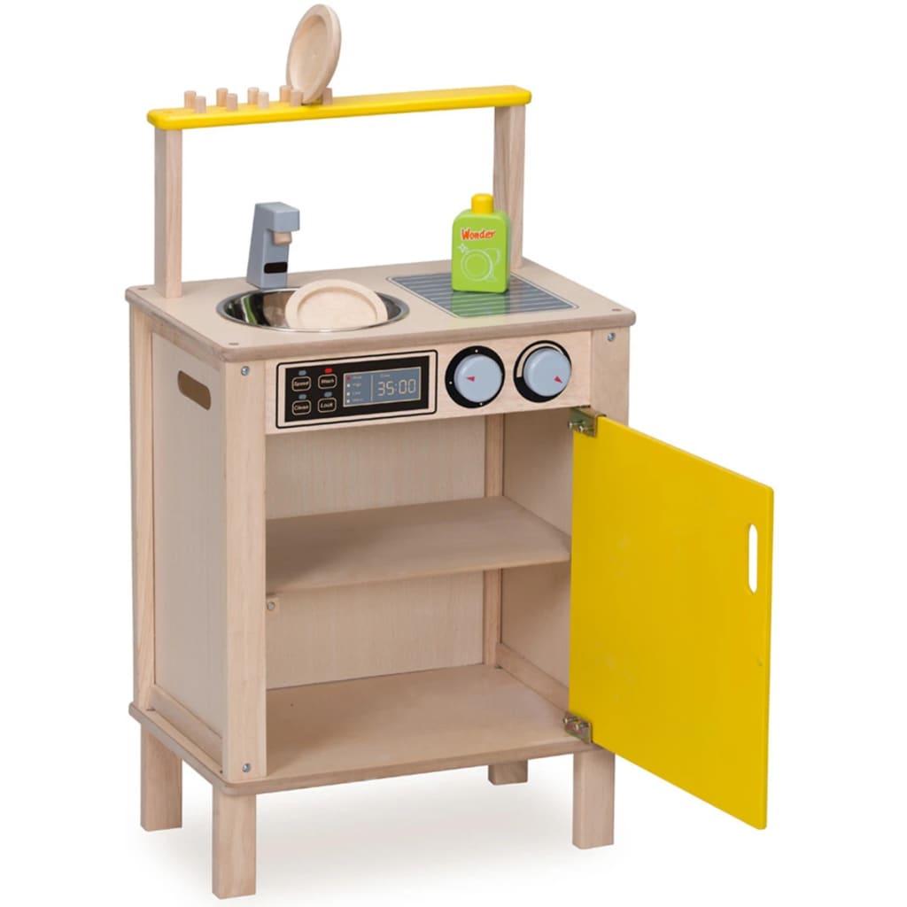 acheter wonderworld poste de lave vaisselle bois jaune hout192441 pas cher. Black Bedroom Furniture Sets. Home Design Ideas