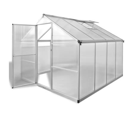 der gew chshaus verst rktes aluminium mit grundrahmen 6 05 m online shop. Black Bedroom Furniture Sets. Home Design Ideas