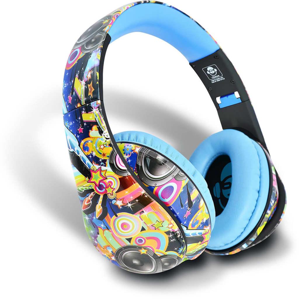 Afbeelding van iDance Koptelefoon Ibiza201 blauw IDAN352010