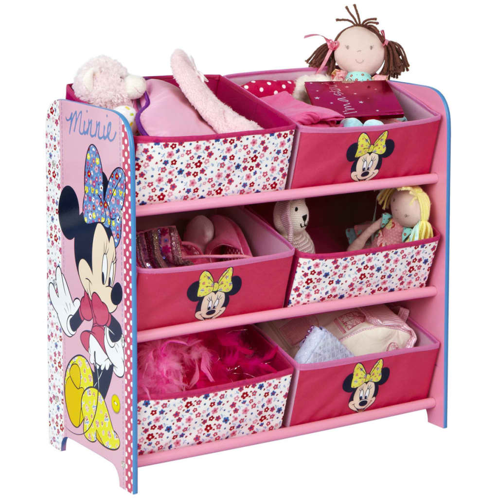 disney minnie mouse aufbewahrungskiste 6 beh lter 64x30x60 cm rosa g nstig kaufen. Black Bedroom Furniture Sets. Home Design Ideas