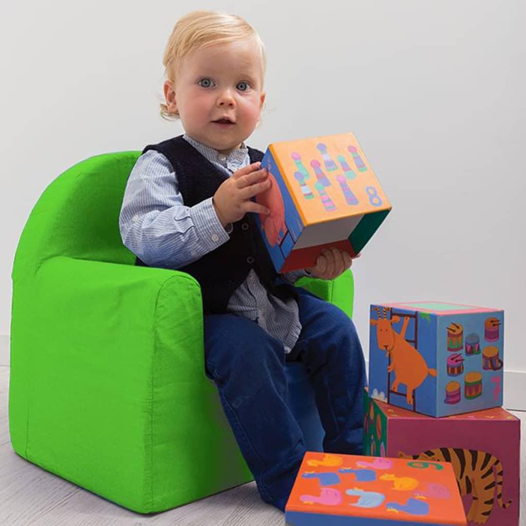 acheter room studio fauteuil pour enfants 37 x 29 x 41 cm vert room230051 pas cher. Black Bedroom Furniture Sets. Home Design Ideas
