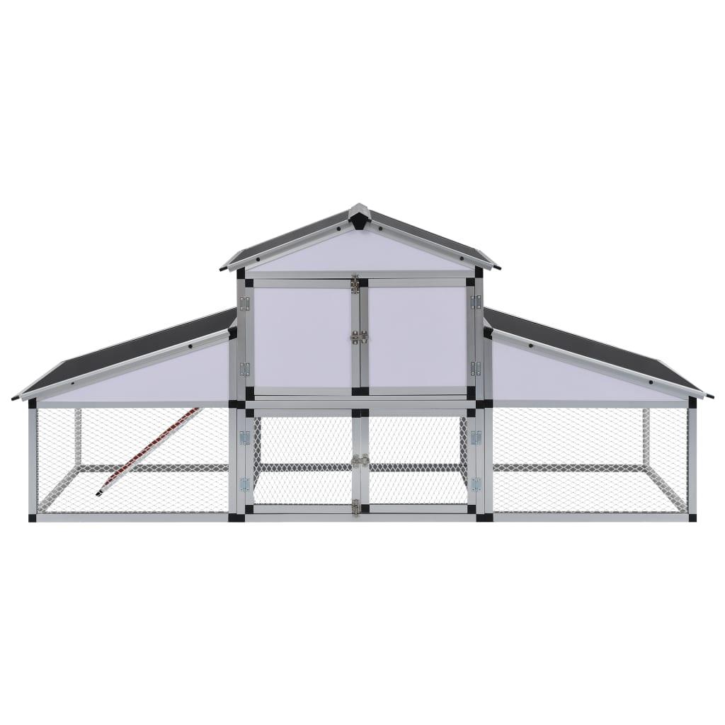 aluminium h hnerstall mit rampe und nistkasten g nstig kaufen. Black Bedroom Furniture Sets. Home Design Ideas